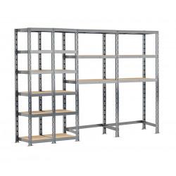 Concept rangement de garage - longueur 240 cm - 18 plateaux de marque Modulö Storage, référence: B5504000