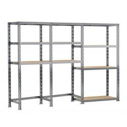 Concept rangement de garage - longueur 240 cm - 10 plateaux de marque Modulö Storage, référence: B5504100
