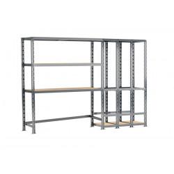 Concept rangement de garage MODULÖ - longueur 255 cm - 5 plateaux de marque Modulö Storage, référence: B5504200