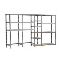 Concept rangement de garage - longueur 290 cm - 16 plateaux de marque Modulö Storage, référence: B5504300