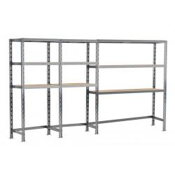 Concept rangement de garage - longueur 290 cm - 9 plateaux de marque Modulö Storage, référence: B5504400