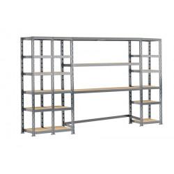 Concept rangement de garage MODULÖ - longueur 300 cm - 21 plateaux de marque Modulö Storage, référence: B5504500