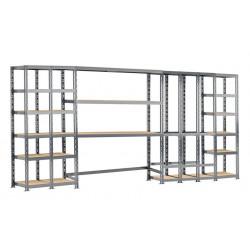 Concept rangement de garage MODULÖ - longueur 405 cm - 21 plateaux de marque Modulö Storage, référence: B5504600