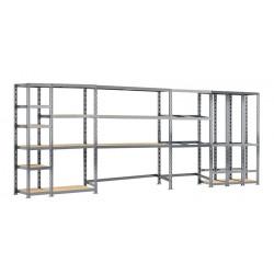 Concept rangement de garage MODULÖ - longueur 505 cm - 16 plateaux de marque Modulö Storage, référence: B5504700