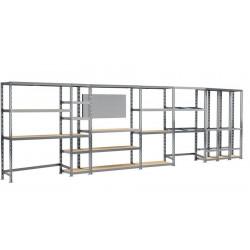 Concept rangement de garage MODULÖ - longueur 605 cm - 24 plateaux de marque Modulö Storage, référence: B5504800