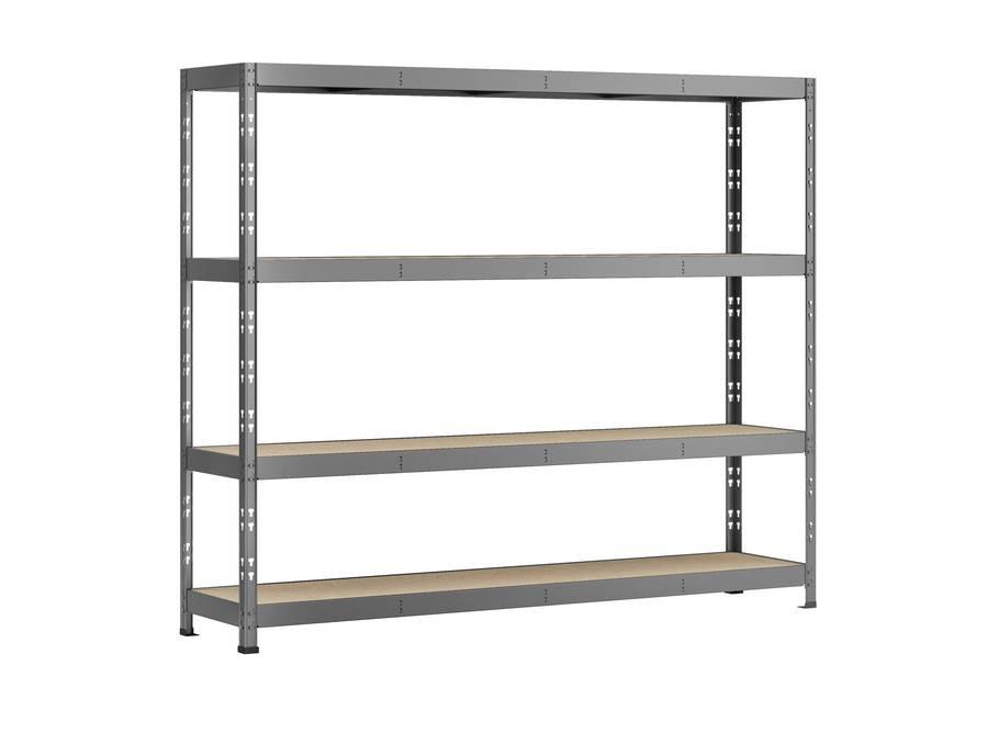 Etagère Rack charge lourde - 4 plateaux - 220 x 50 cm