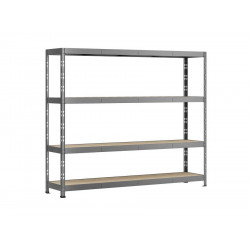 Etagère Rack charge lourde - 4 plateaux - 220 x 60 cm de marque Modulö Storage, référence: B5506300