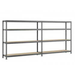 Etagère double Rack MODULÖ - 290 x 50 cm - 8 plateaux de marque Modulö Storage, référence: B5506900