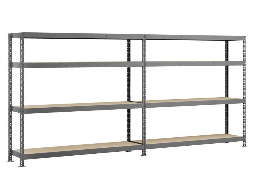 Etagère double Rack MODULÖ - 290 x 50 cm - 8 plateaux