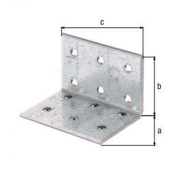 Équerre multi-trous galva zinguée sendzimir 40x40x60 de marque GAH ALBERTS, référence: B5519300