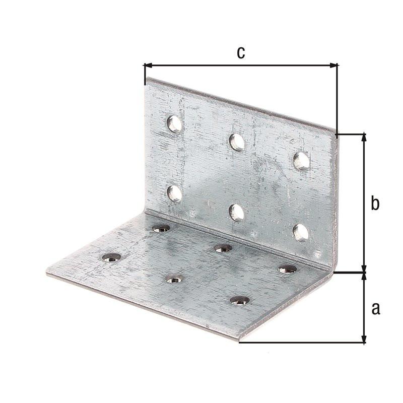 Équerre multi-trous galva zinguée sendzimir 40x40x60