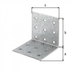 Équerre multi-trous galva zinguée sendzimir 60x60x60 de marque GAH ALBERTS, référence: B5519400