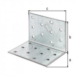 Équerre multi-trous galva zinguée sendzimir 60x60x80 de marque GAH ALBERTS, référence: B5519500