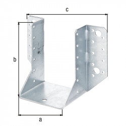 Support U ailes  extérieur galva zinguée sendzimir 80x120 de marque GAH ALBERTS, référence: B5519800