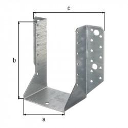 Support U ailes  extérieur galva zinguée sendzimir 100x140 de marque GAH ALBERTS, référence: B5519900