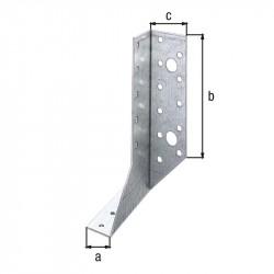 Support U ailes  extérieur droit galva zinguée sendzimir 25X140 de marque GAH ALBERTS, référence: B5520200