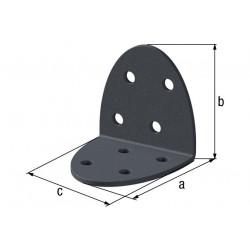 Équerre d'assemblage  Ovado galva plastifié gris 40x40x40 de marque GAH ALBERTS, référence: B5521900