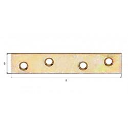 Platine d'assemblage bichro 80x15 de marque GAH ALBERTS, référence: B5524200