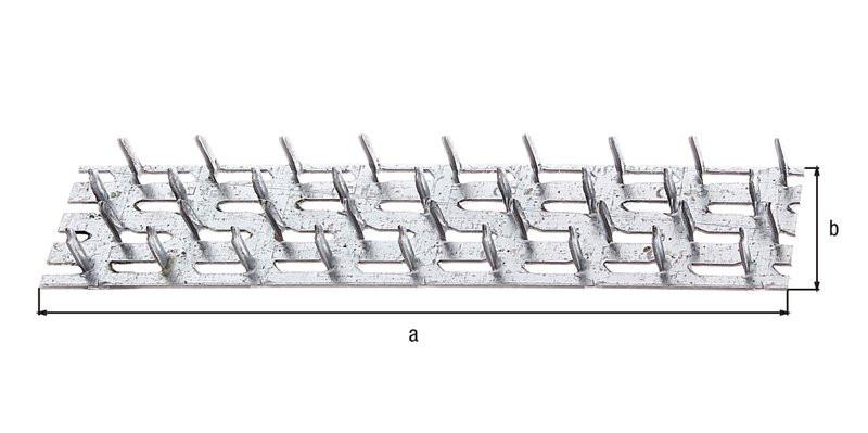 Plaque à clouer galva zinguée sendzimir 127x38