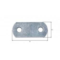 Platine d'assemblage bouts ronds zinguée 16x40 de marque GAH ALBERTS, référence: B5526500