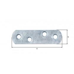 Platine d'assemblage bouts ronds zinguée 16x60 de marque GAH ALBERTS, référence: B5526600