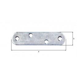 Platine d'assemblage bouts ronds zinguée 19x80 de marque GAH ALBERTS, référence: B5526700