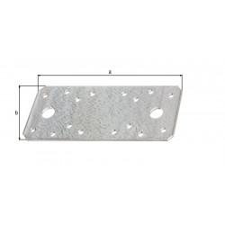 Platine d'assemblage galva zinguée sendzimir 133x55x2,5 de marque GAH ALBERTS, référence: B5527000