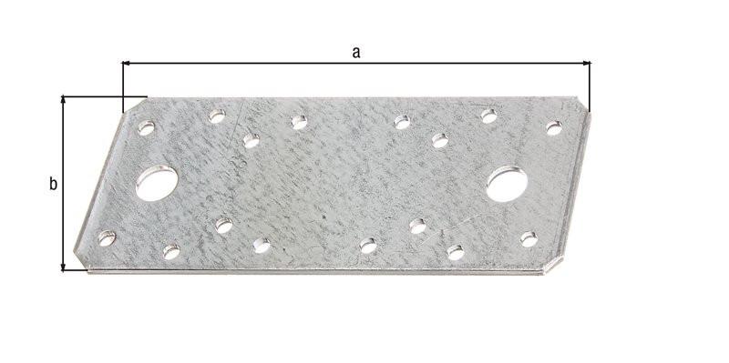 Platine d'assemblage galva zinguée sendzimir 133x55x2,5