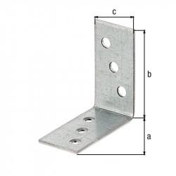 Équerre d'assemblage galva zinguée sendzimir 40x40x20 de marque GAH ALBERTS, référence: B5527100