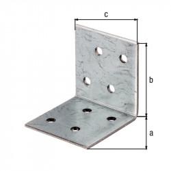 Équerre d'assemblage galva zinguée sendzimir 40x40x40 de marque GAH ALBERTS, référence: B5527200