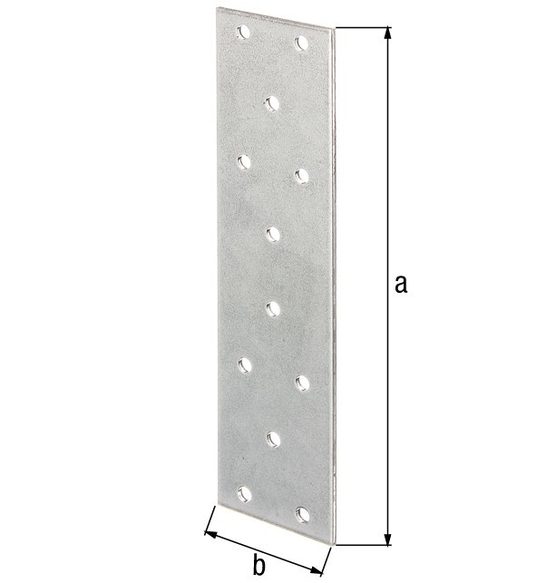 Platine multi-trous galva zinguée sendzimir 200x60x2