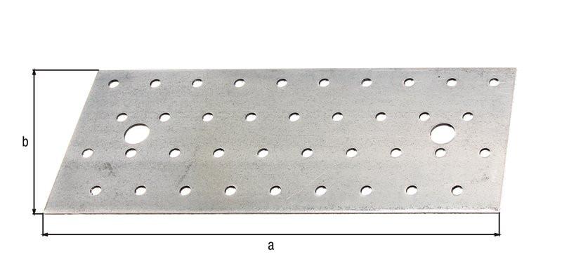 Platine multi-trous galva zinguée sendzimir 200x80x2