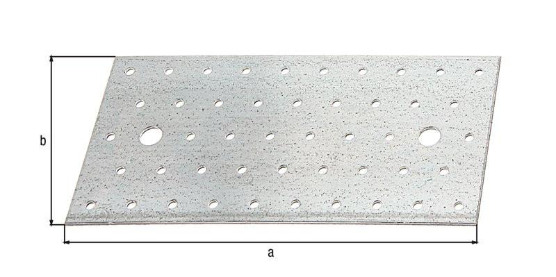 Platine multi-trous galva zinguée sendzimir 200x100x2