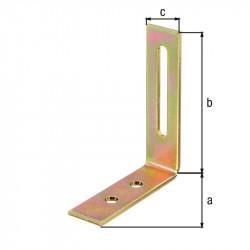 Équerre réglable trou oblong bichro 65x80x20 de marque GAH ALBERTS, référence: B5530100