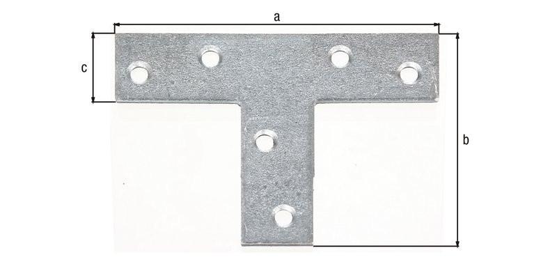 Platine d'assemblage galva zinguée sendzimir 70x50x16