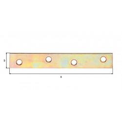 Platine d'assemblage bichro 100x15 de marque GAH ALBERTS, référence: B5532200