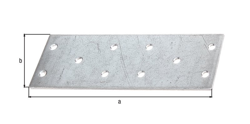 Platine multi-trous galva zinguée sendzimir 115x40x2