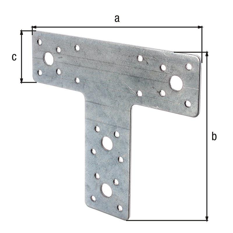 Platine d'assemblage galva zinguée sendzimir 160x142x45
