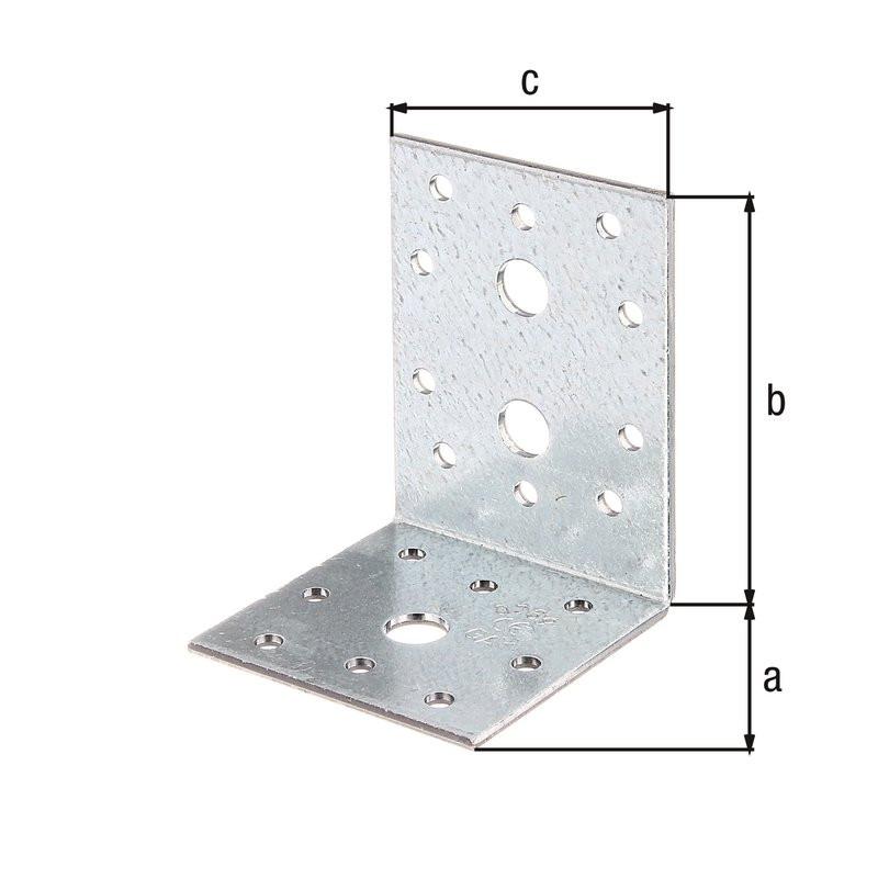Équerre d'assemblage galva zinguée sendzimir 60x80x60