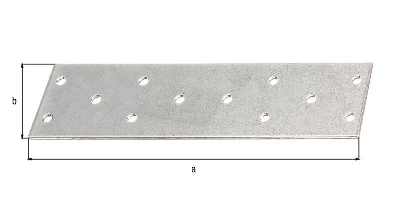 Platine multi-trous galva zinguée sendzimir 155x40x2