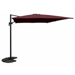Parasol déporté carré DEAUVILLE - Bordeaux de marque CHALET & JARDIN, référence: J5543000