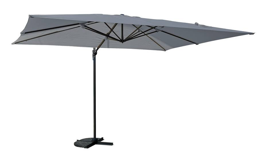 Parasol déporté rectangle SAINT TROPEZ - Gris
