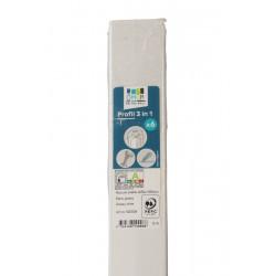 Sachet de 6 profils blanc glossy - ÔMUR de marque Nordlinger, référence: B5546600