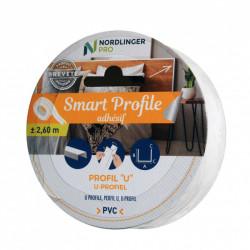 Smart profile - U Carré l 2 x h 1 cm de marque Nordlinger, référence: B5547900