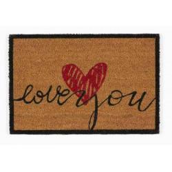 Tapis abrité brossant - girly love - 60x40 cm de marque Coryl, référence: B5551700