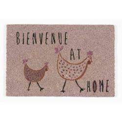 Tapis abrité brossant - girly poulette - 60x40 cm de marque Coryl, référence: B5551800