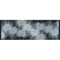 Tapis déco intérieur absorbant - palmes nuit - 150x50 cm de marque Coryl, référence: B5558400