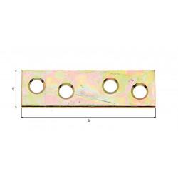 Platine d'assemblage bichromatée 50x14 pack12pièces de marque GAH ALBERTS, référence: B5523400