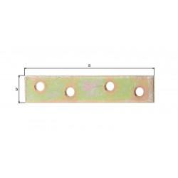 Platine d'assemblage bichromatée 80x15 pack 8pièces de marque GAH ALBERTS, référence: B5523500