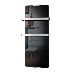 Sèche serviette décoratif design noir 900W thermostat electronique de marque CHEMIN'ARTE, référence: B5566200